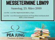 Buchmesse Leipzig 2019: Meine Termine